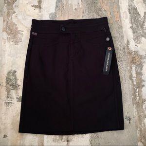 NWT CItizens of humanity black pencil skirt sz 26